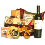 Wine and Cheese Gourmet Basket